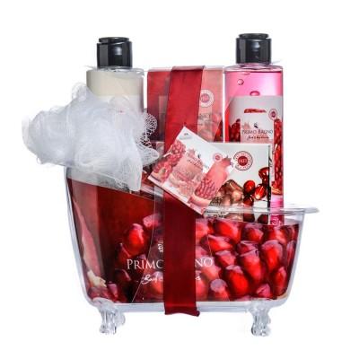 Pomegranate Coconut Λοσιόν Σώματος 150ml, Αφρόλουτρο 150ml, Άλατα Μπάνιου 100gr, Σαπούνι 100gr & Σφουγγάρι