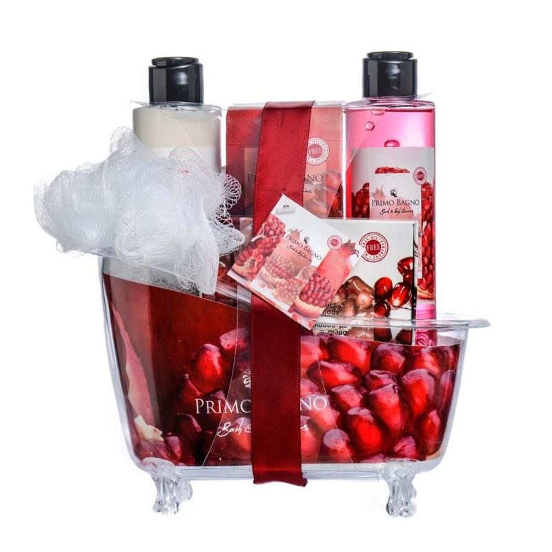 Pomegranate Coconut Λοσιόν Σώματος 150ml, Αφρόλουτρο 150ml, Άλατα Μπάνιου 100gr, Σαπούνι 100gr & Σφουγγάρι Σετ Δώρου