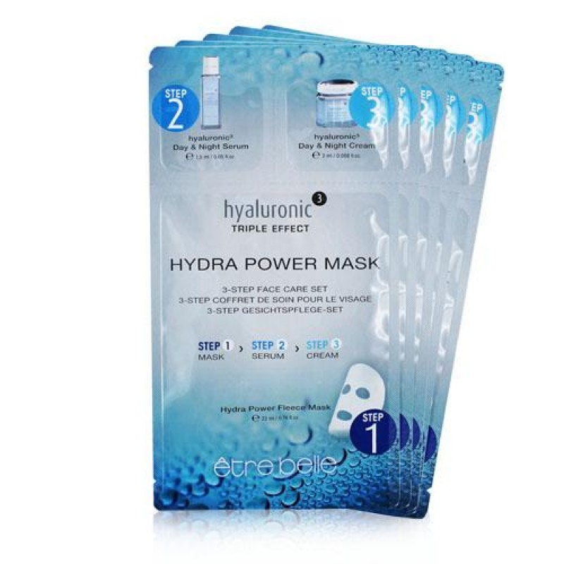 Ηyaluronic ³ Hydra Power Maske 3-Step Face Care Set 1Pcs Μάσκες Ομορφιάς