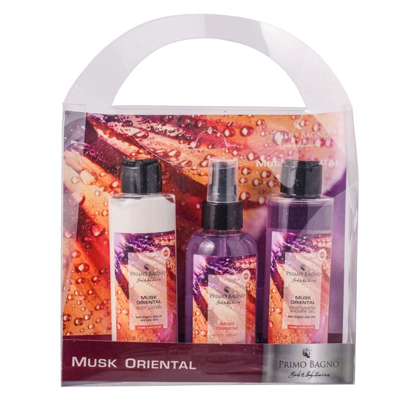 Musk Oriental Body Lotion 150ml, Body Spray 140ml, Hair & Body Wash 150ml Σετ Δώρου