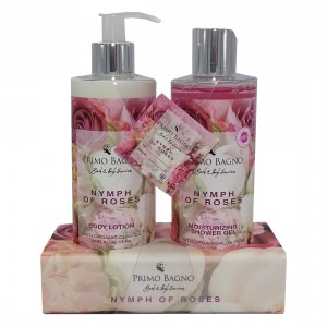 Ακρυλική Θήκη Nymph of Roses Shower Gel 300ml  και Body Lotion 300ml