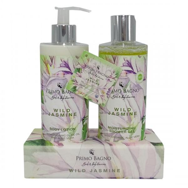 Ακρυλική Θήκη Wild Jasmine με Shower Gel 300ml και Body Lotion 300ml Φροντίδα Σώματος