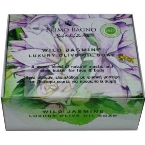 Αγνό Σαπούνι Ελαιολάδου Wild Jasmine 130gr Φροντίδα Σώματος