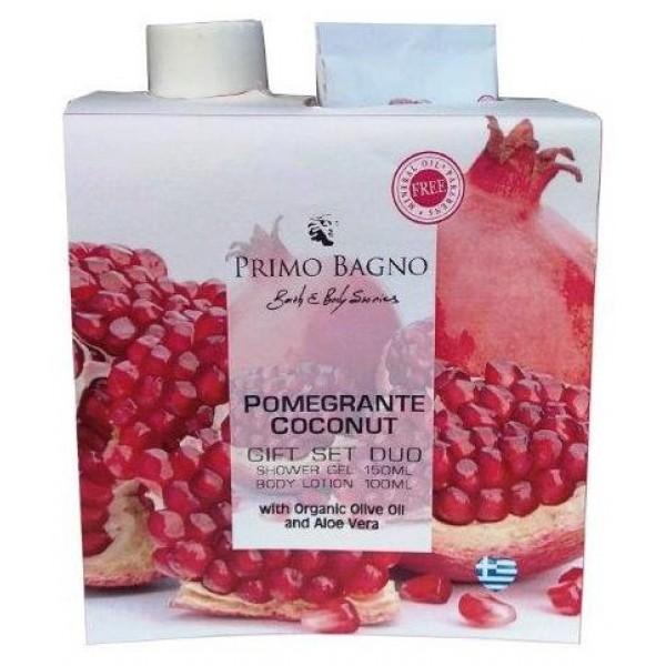 Χάρτινο Σετ Δώρου Pomegranate Coconut 2τμχ Σετ Δώρου