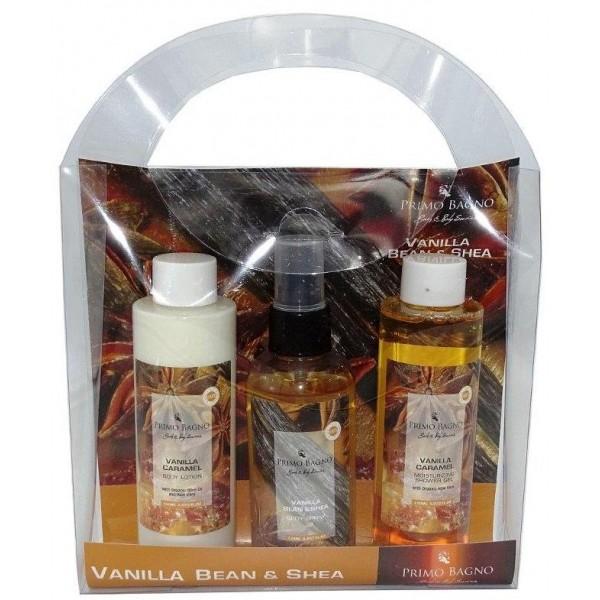 Vanilla Caramel Body Lotion 150ml, Body Spray 140ml, Hair & Body Wash 150ml Σετ Δώρου