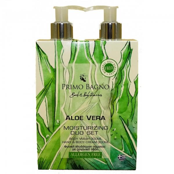 Φυσική Ενυδάτωση Σώματος Aloe Vera 2τμχ Σετ Δώρου