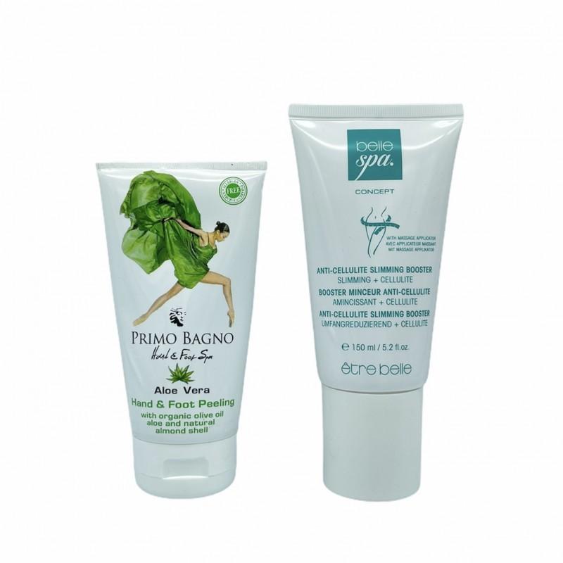 Anti-Cellulite Gel Booster 150ml + Aloe Vera Απολεπιστική Κρέμα Χεριών & Ποδιών 170ml Aloe Vera