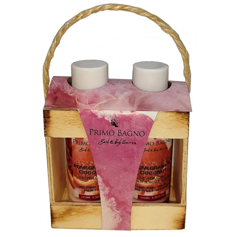 Ξύλινο Σετ Δώρου Pomegranate Coconut 2τμχ Σετ Δώρου