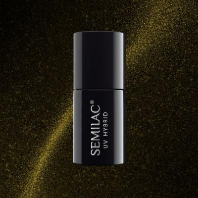 612 Ημιμόνιμο βερνίκι Semilac Cat Eye Gold 7ml
